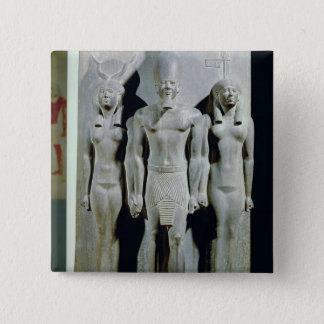Triad of Menkaure  with the goddess Hathor Pinback Button