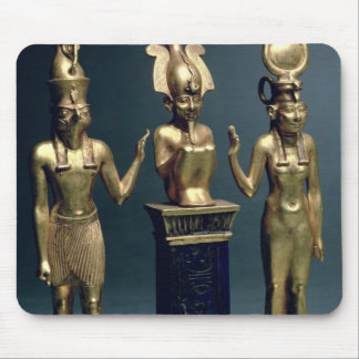 Triad of Osorkon II: Osiris flanked by Isis and Ho Mouse Pad