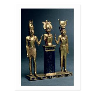 Triad of Osorkon II: Osiris flanked by Isis and Ho Postcard