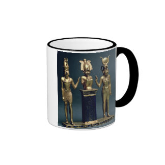 Triad of Osorkon II: Osiris flanked by Isis and Ho Ringer Mug