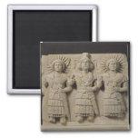 Triad of Palmyrene Gods, from Palmyra Region 2 Inch Square Magnet