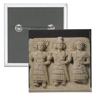 Triad of Palmyrene Gods, from Palmyra Region Pin