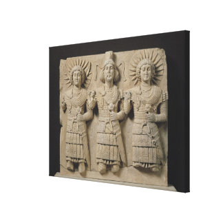 Triad of Palmyrene Gods, from Palmyra Region Canvas Print
