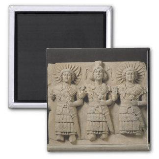 Tríada de dioses de Palmyrene, de la región del Pa Imán Cuadrado