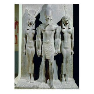 Tríada de Menkaure con la diosa Hathor Tarjeta Postal