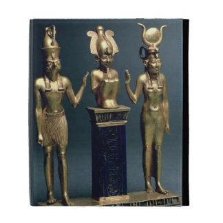 Tríada de Osorkon II: Osiris flanqueó por ISIS y H