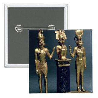 Tríada de Osorkon II: Osiris flanqueó por ISIS y H Pin Cuadrado