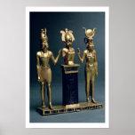 Tríada de Osorkon II: Osiris flanqueó por ISIS y H Póster