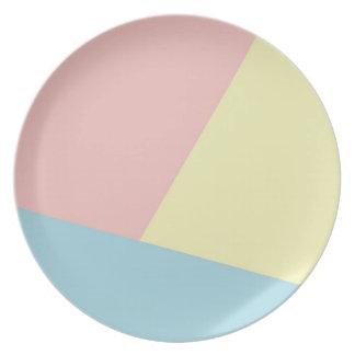 Triádico - placa de la melamina plato de comida