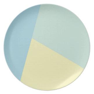 Triádico - placa de la melamina platos para fiestas