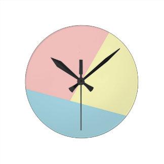 Triádico - reloj de pared redondo