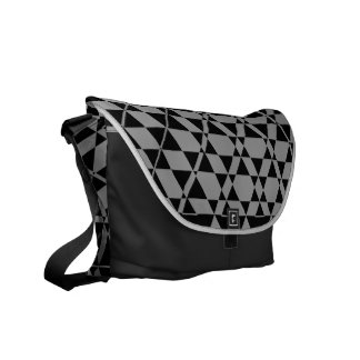 Triagonal Ebony (Grey) Messenger Bag