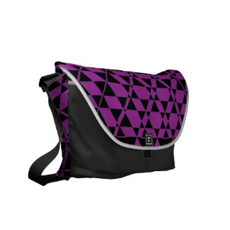 Triagonal Ebony (Purple) Messenger Bag