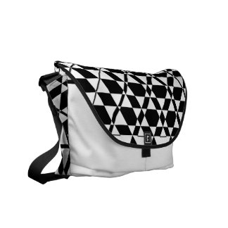 Triagonal Ivory (Black) Messenger Bag