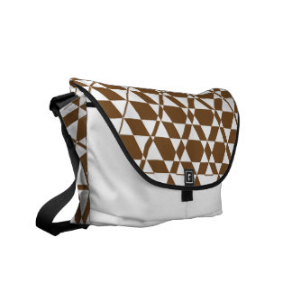 Triagonal Ivory (Brown) Messenger Bag