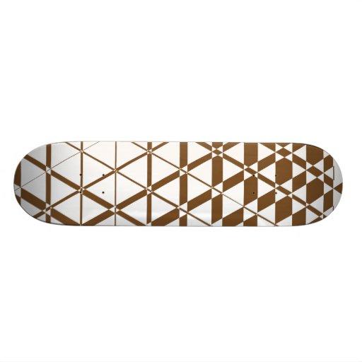 Triagonal Ivory (Brown) Skateboard Deck