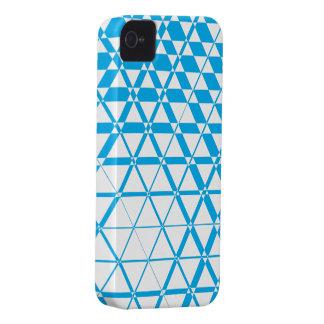 Triagonal Ivory (Cyan) iPhone 4S Case