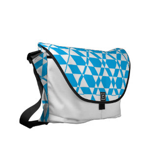 Triagonal Ivory (Cyan) Messenger Bag