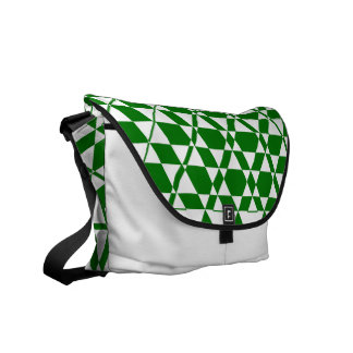Triagonal Ivory (Green) Messenger Bag