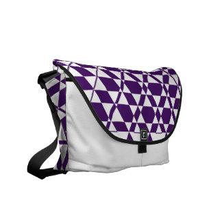 Triagonal Ivory (Indigo) Messenger Bag
