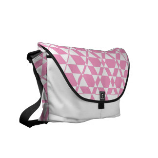 Triagonal Ivory (Pink) Messenger Bag