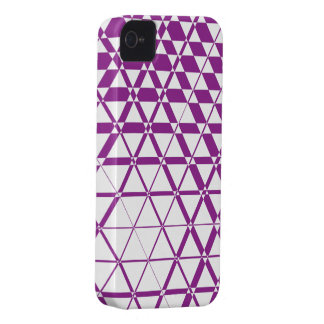 Triagonal Ivory (Purple) iPhone 4S Case
