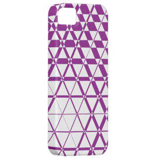 Triagonal Ivory (Purple) iPhone 5S Case