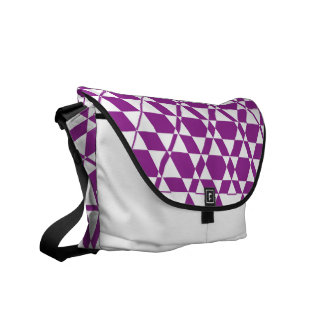Triagonal Ivory (Purple) Messenger Bag