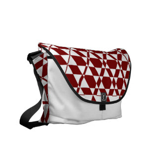 Triagonal Ivory (Red) Messenger Bag