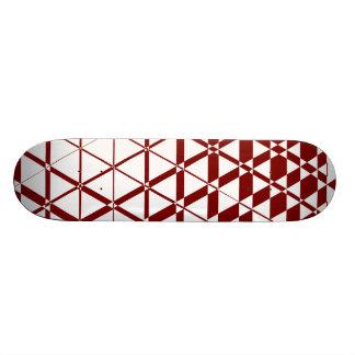 Triagonal Ivory (Red) Skateboard Deck