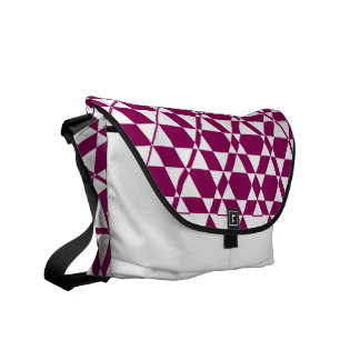 Triagonal Ivory (Red-Violet) Messenger Bag