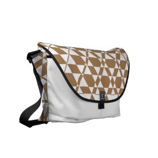 Triagonal Ivory (Tan) Messenger Bag
