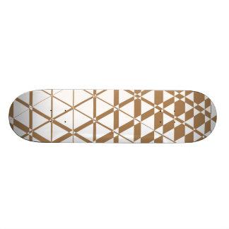 Triagonal Ivory (Tan) Skateboard Deck