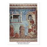 Trial By Fire Before Sultan By Giotto Di Bondone Postcard