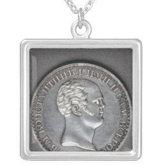 Trial  for a Rouble of Constantine Pavlovich Silver Plated Necklace