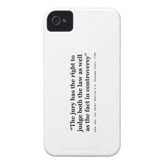Trial Juries Quote by Justice John Jay 1789 Case-Mate iPhone 4 Case