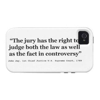 Trial Juries Quote by Justice John Jay 1789 iPhone 4/4S Cover