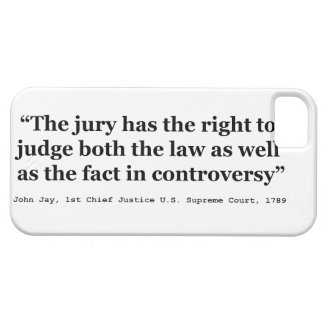 Trial Juries Quote by Justice John Jay 1789 iPhone 5 Case