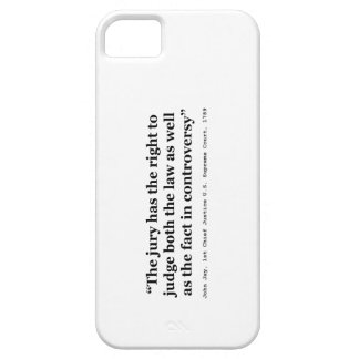 Trial Juries Quote by Justice John Jay 1789 iPhone SE/5/5s Case