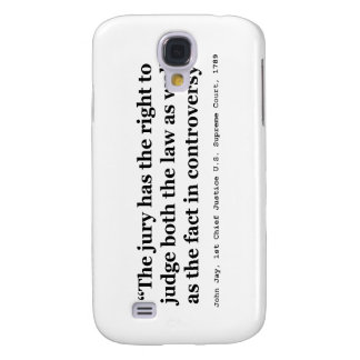 Trial Juries Quote by Justice John Jay 1789 Samsung Galaxy S4 Cover