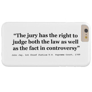 Trial Juries Quote by Justice John Jay 1789 Tough iPhone 3 Cover