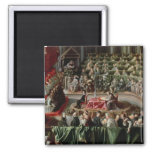 Trial of Galileo, 1633 2 Inch Square Magnet