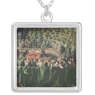 Trial of Galileo, 1633 2 Silver Plated Necklace