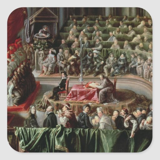 Trial of Galileo, 1633 Square Sticker