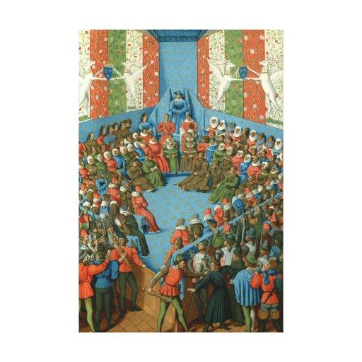 Trial of Jean II, Duke of Alençon Canvas Print