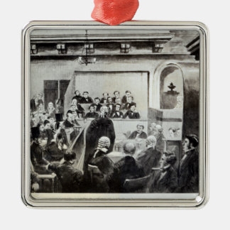 Trial of Madeleine Smith, 1857 Metal Ornament