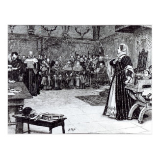 Trial of Mary Queen of Scots Post Card
