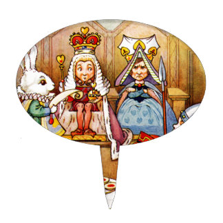 Trial of The Knave of Hearts - Alice In Wonderland Cake Topper