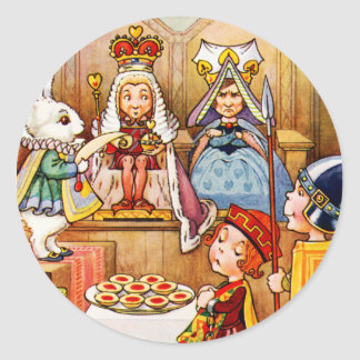 Trial of The Knave of Hearts - Alice In Wonderland Classic Round Sticker