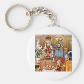 Trial of the Knave of Hearts Basic Round Button Keychain
